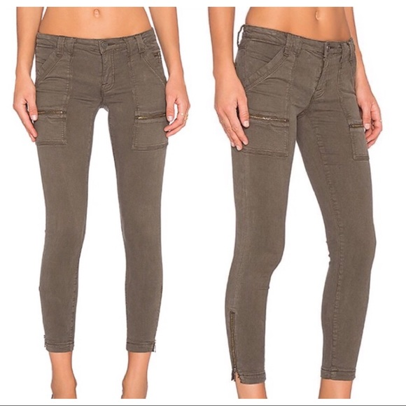 98425e31cf32 Joie Denim - Joie Park Skinny Jeans Pants Olive Green